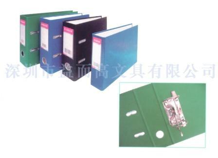 Регистратор A5, 70мм, PVC/Paper, вертикальный, серый Eisear