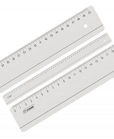 Линейка 50 см прозрачная б/цв