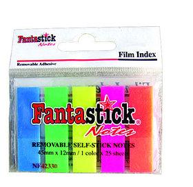 Закладки самоклеящиеся 5 цветов, 25 листов, FantaStick, пластиковые