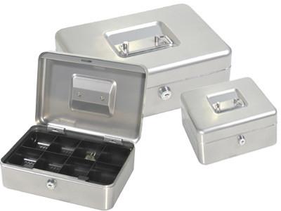 Ящик для денег, 200x160x90мм, 2ключа, серый стальной ProfiOffice