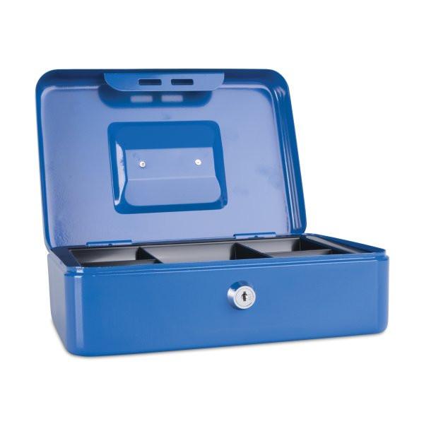 Ящик для денег, 250x180x90мм, 2ключа, металл, синий Donau