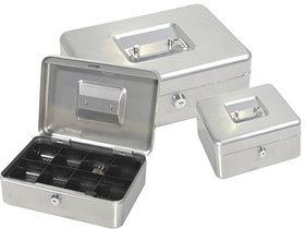 Ящик для денег, 250x180x90мм, 2ключа, серый стальной ProfiOffice