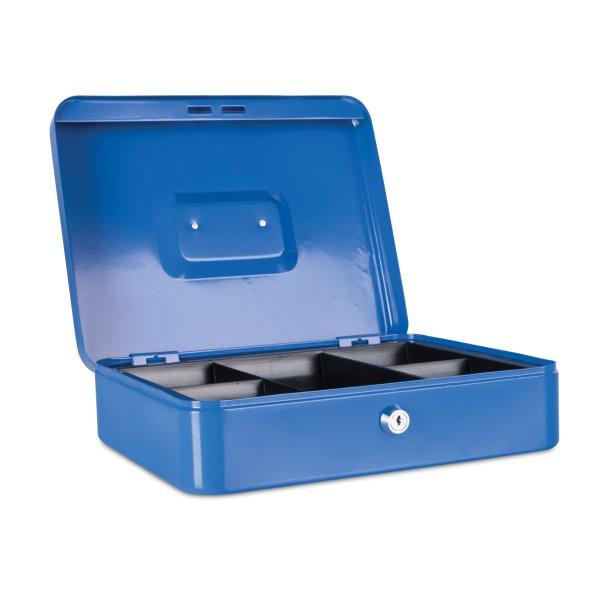 Ящик для денег, 300x240x90мм, 2ключа, металл, синий Donau