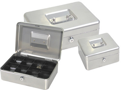 Ящик для денег, 300x240x90мм, 2ключа, серый стальной ProfiOffice