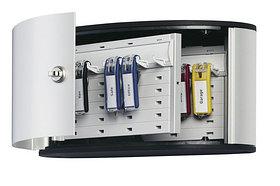 Шкафчик для 12 ключей, 302x160x118мм, настенный, серебристый металлик Durable