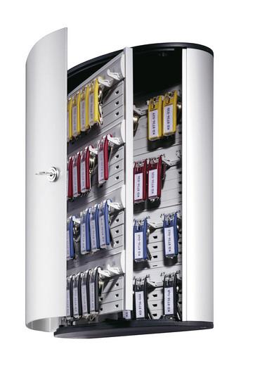Шкафчик для 48 ключей, 302x400x118мм, настенный, серебристый металлик Durable