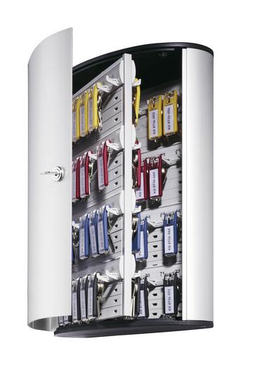 Шкафчик для 72 ключей, 302x280x118мм, настенный, серебристый металлик Durable