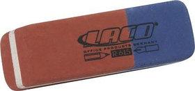 Ластик 45x7x18мм, для стирания карандаша и чернил, красный/синий Laco