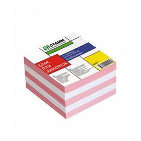 Блок для заметок 2-х цветный 9х9х5 розовый