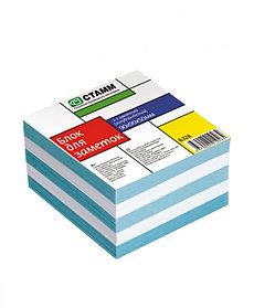 Блок для заметок 2-х цветный 9х9х5 голубой