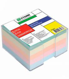 Блок для заметок 8*8*5 цветной в пластбоксе