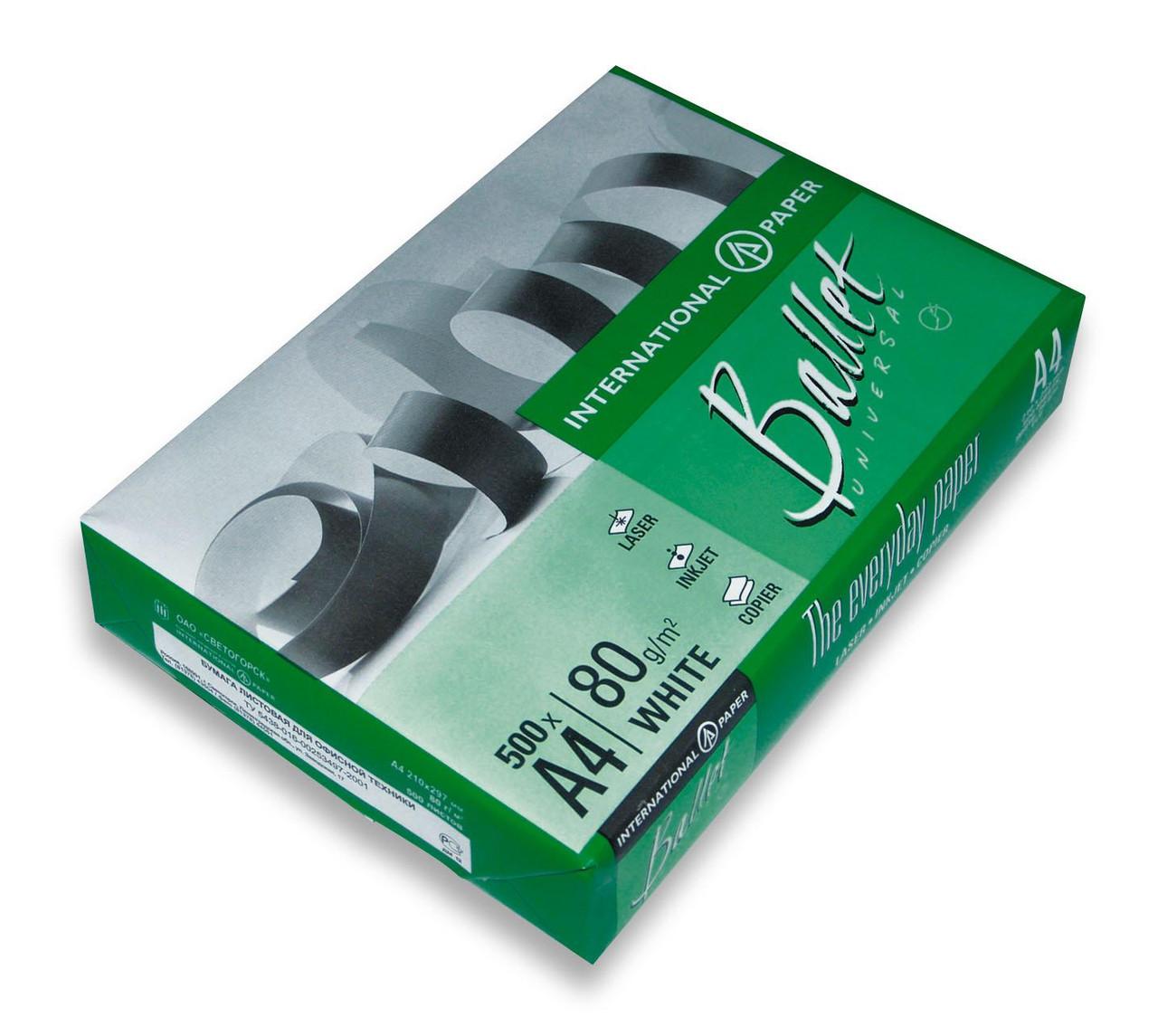 Бумага А4, Ballet Universal C+, 80г, 146CIE, 500л CL