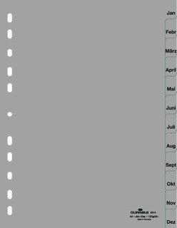 Разделитель Jan-Dec, А4, PP, 12л, серый