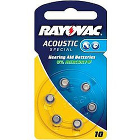 Батарейка для слуховых аппаратов 10AU RAYOVAC 6шт