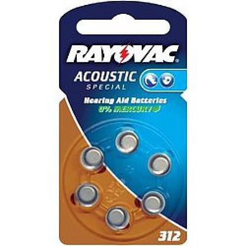 Батарейка для слуховых аппаратов 312AU RAYOVAC 8шт