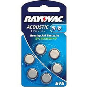 Батарейка для слуховых аппаратов 675AU RAYOVAC 8шт