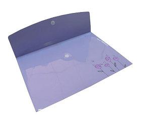Папка с липучкой А4, пластик Shuter Flora