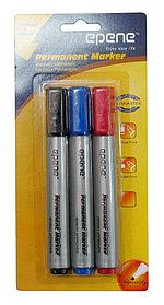 Маркер перманентный, 1.5-2.5мм, блистер 3 цвета Epene