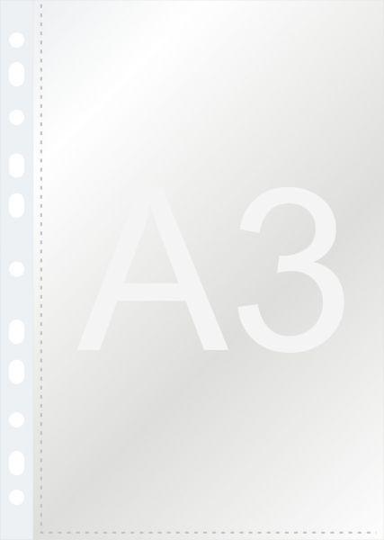 Файл прозрачный A3, 0,060мм Bindermax