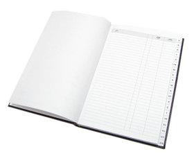 Телефонная книга 16x23.5см, 192стр, линейка, черная Acar