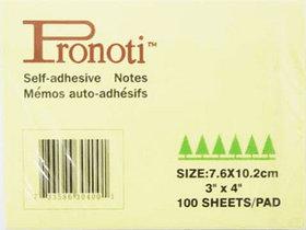 Бумага для заметок 75x102мм, 100л, самоклеющаяся, желтая Pronoti