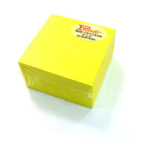 Бумага для заметок 75x75мм, 500л, самоклеющаяся, неоновая желтая Pronoti