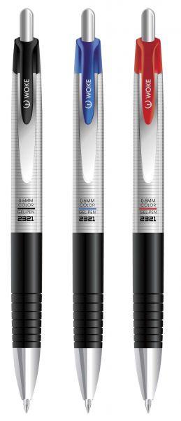Ручка гелевая, 0.5мм, черная, автомат, с резиновым упором для пальцев Shuter