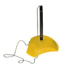 Ручка шариковая на подставке, черная/желтая Alme