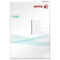 Наклейки на 65, А4, 38.1x21.2 мм, 100л, закругленные края, белые Xerox