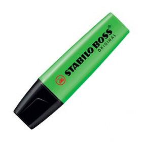 Маркер текстовой, 2-5мм, скош.наконечник, зеленый Stabilo Boss