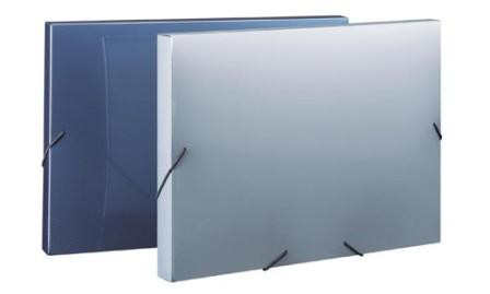 Папка с резинкой А4, 25мм, пластик Shuter