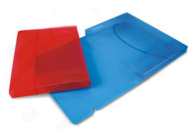 Папка с резинкой объемная 3см, А4, прозрачный пластик Foska