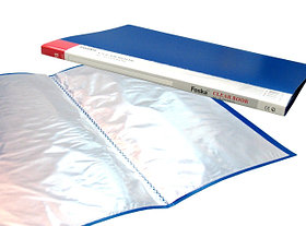Папка на 10файлов, А4, 0.58/0.020мм, пластик Foska