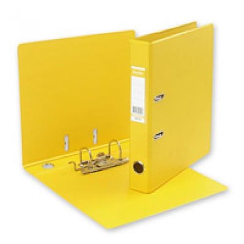 """Папка-регистратор  """"Есо"""" А4 с бок. карманом, 50мм, желтый"""