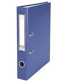 """Папка-регистратор  """"Есо"""" А4 с бок. карманом, 50мм, т.-синий"""