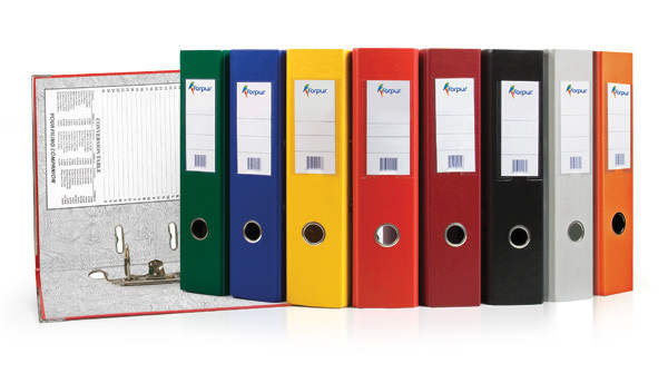 """Папка-регистратор  """"Eco"""" А4 с бок. карманом, 50мм, оранжевый"""