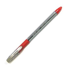 Ручка шариковая, 0.7мм, красная, корпус прозрачный, с резиновым упором для пальцев Epene