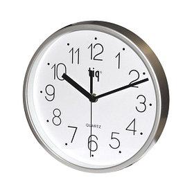 Часы d=22,5см, круглые, серебристые, пластиковые Tig