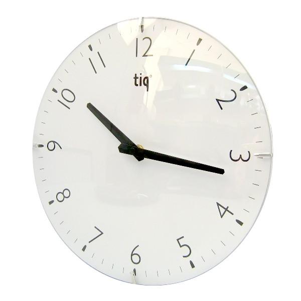 Часы d=30,0см, круглые, белые Tig