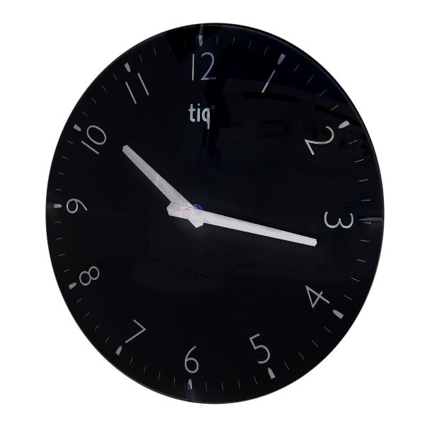 Часы d=30,0см, круглые, черные Tig