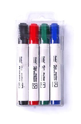 Маркер для доски, 1-3мм, круглый наконечник, набор 4 цвета Foska