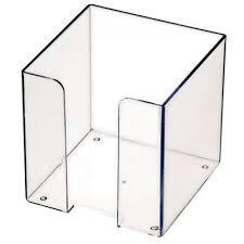 Пластбокс прозрачный для бумажного блока 9*9*9