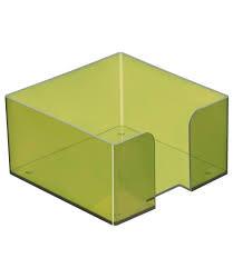 Пластбокс тонированный «Лайм» для бумажного блока 9*9*5