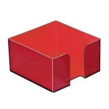 Пластбокс тонированный «Вишня» для бумажного блока 9*9*5