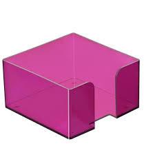 Пластбокс тонированный «Слива» для бумажного блока 9*9*5