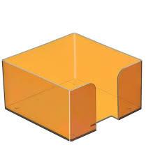 Пластбокс тонированный МАНГО для бумажного блока 9*9*5