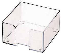 Пластбокс прозрачный для бумажного блока 9*9*5