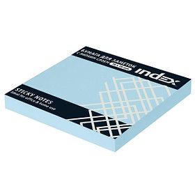 Бумага для заметок с липким слоем,  разм. 76х75 мм, светло-голубая, 100 л.