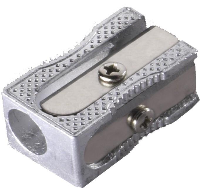 Точилка 1 отверстие, форма куба, с запас.лезвием, металл Laco