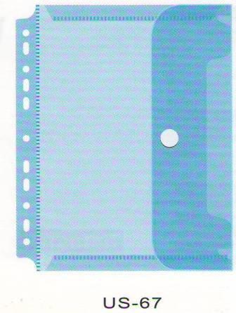 Папка с липучкой А4, с перфорацией, пластик Bindermax